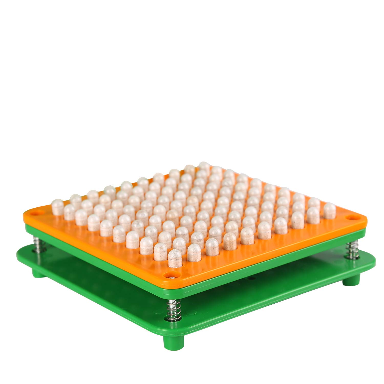 100 Hole (000#) Capsule Holder with Tamper for Size 000 Empty Capsules Holding Tray Pill Dispensers & Reminders -Green by wananfu (Image #5)
