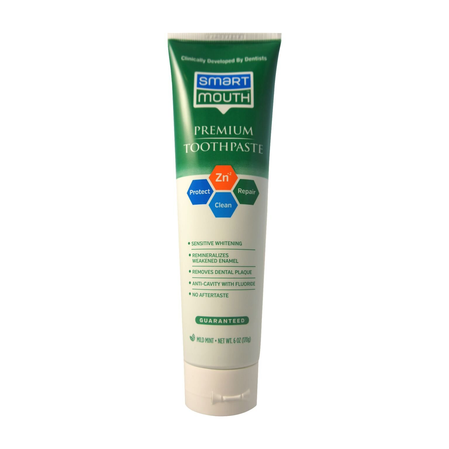 Smart Mouth Whitening Toothpaste with Fluoride Clean Mint 6 oz (Pack of  8)