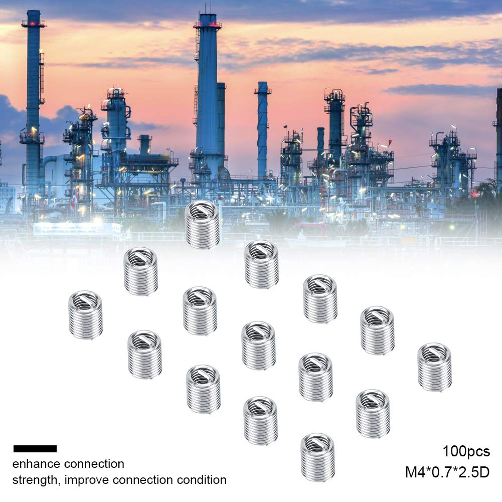 akozon roscas para 100/unidades M4/Acero Inoxidable SS304/espiral alambre helical roscas para sortimen Helicoil Tipo Free unidad filetes