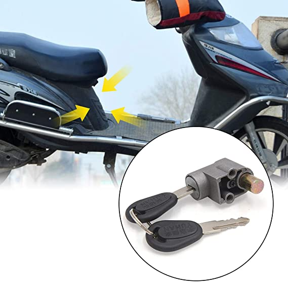 uxcell a17041200ux0905 Electric Motorcycle Scooter Ignition Switch Battery Safety Lock w 2 Keys