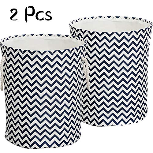 LinTimes 2 Pcs Large Laundry Baskets, Collapsible Laundry Hampers Bins, 17'' x 17'' x 20'' by LinTimes