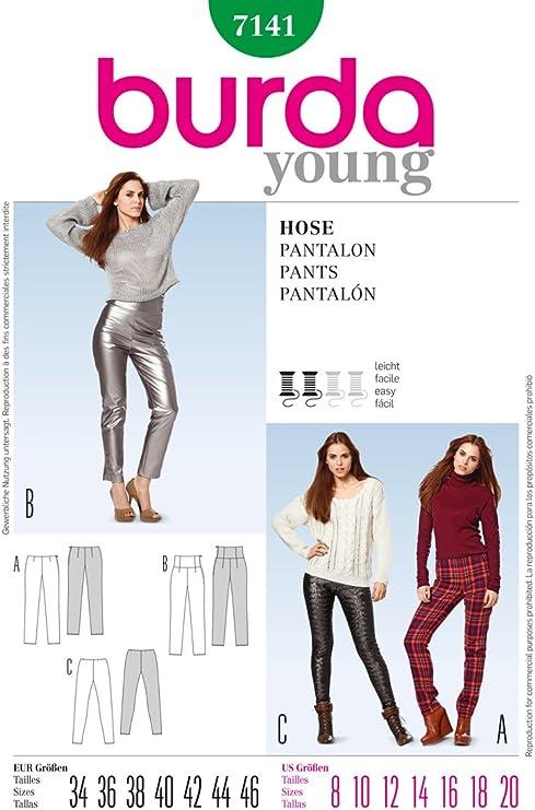 NEU Leggings Damen Young Fashion TOP Skinny Hose Größe One Size 36-38