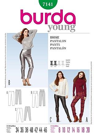 Burda Damen Schnittmuster Yound Fashion Schnittmuster 7141 – Skinny ...