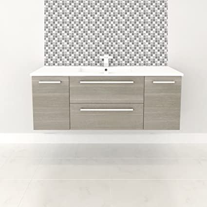 cutler kitchen bath silhouette 48 in wall hung bathroom vanity - Wall Mounted Bathroom Vanity
