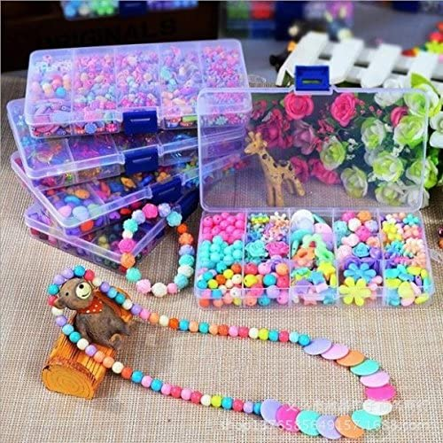 250pcs MonkeyJack 250//260 Pieces Cute Candy Color Acrylic Loose Beads Kids Creative DIY Jewelry Kit for Girls Necklace and Bracelet Art Crafts Toys