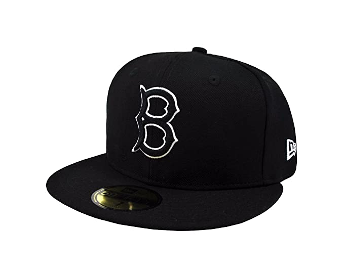 e7a1290f New Era 59Fifty Men's Hat Brooklyn Dodgers Black/White Fitted Headwear Cap