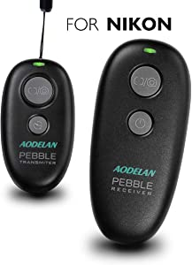AODELAN Wireless Shutter Release Remote Control for Nikon D750, D5300, D5600, D7200, D7500, Z6, Z7, D800, D850, Coolpix P1000