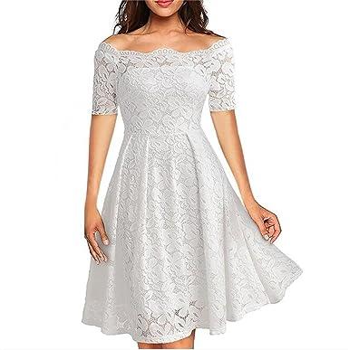 6c0d280d8746 Designer97 Elegant Women s Gorgeous Lace Off Shoulder Short Sleeve Formal  Dress Plus Size Dress XXX-