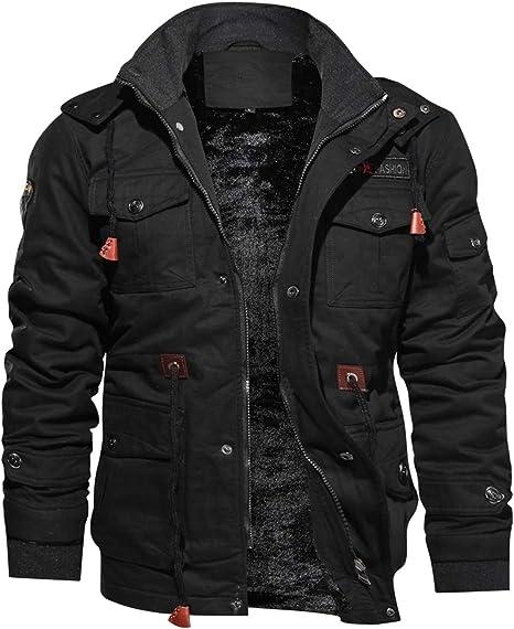 TOVKC Chaquetas Chaqueta para Hombre Camisa de Manga Larga con Cuello Alto Camisa Delgada Casual Gothic Black Goth Men Jacket: Amazon.es: Deportes y aire libre