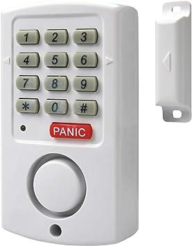 Smartwares SC11 Contacto magnético 10.041.12 SC11-Alarma para Puertas y ventanas-105 dB-Teclado