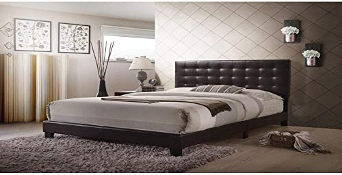 ACME Furniture 26350Q Masate Queen Bed in Espresso PU Queen Brown
