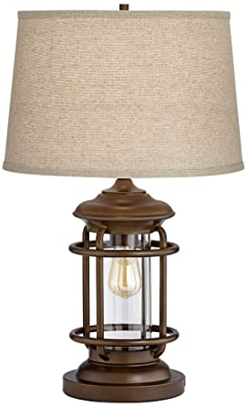 night light table modern andreas industrial night light table lamp with usb port amazoncom