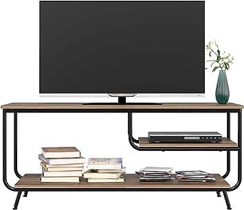 HOMECHO Mueble para TV con Estante para Reproductor de DVD Mesa para TV Vintage Industrial para Salón Mesa de Centro 109 x 40 x 51cm: Amazon.es: Electrónica