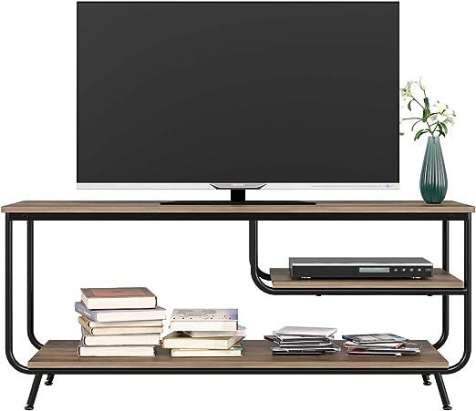 HOMECHO Mueble para TV con Estante para Reproductor de DVD Mesa para TV Vintage Industrial para Salón Mesa de Centro 109 x 40 x 51cm: Amazon.es: Hogar