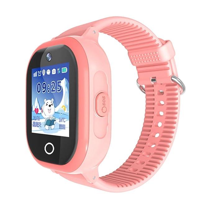 PSQMe - Reloj inteligente para niños (impermeable, antipérdida, con rastreador GPS, podómetro, con solapa, compatible con iOS y Android): Amazon.es: ...