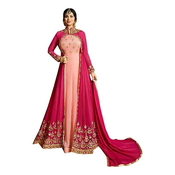 Amazon.com: Festive Designer Anarkali Salwar Kameez ...