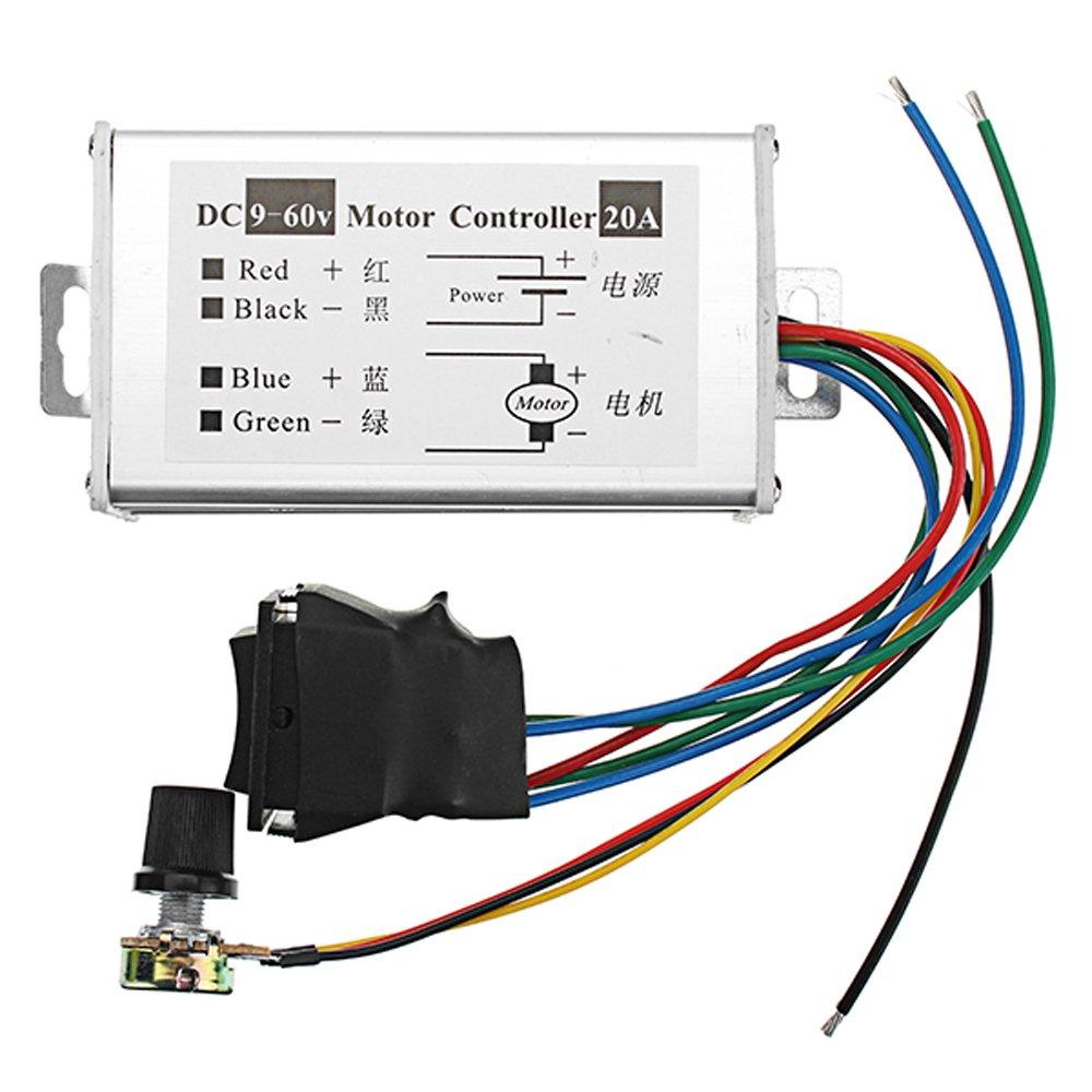 3pcs DC 9-60V 20A 1200W High Power Motor Speed Regulator Speed Controller Pulse Width Modulator PWM Control Switch Adjustable Speed Driver Board - Arduino Compatible SCM & DIY Kits