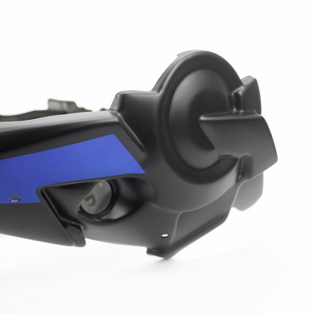 Blu XX eCommerce Motociclo Puntale Motore spoiler carenatura ABS per 2014-2017 Yamaha FZ-07 MT-07 FZ07 MT07 2015 2016