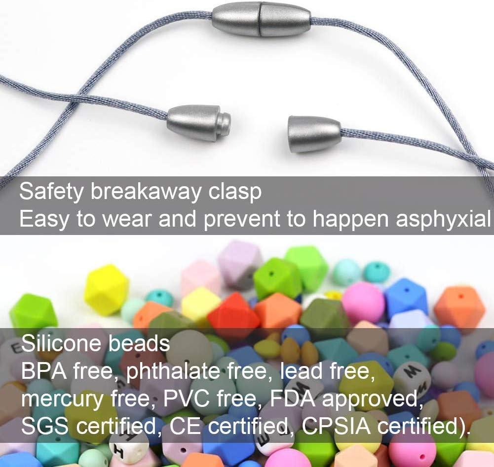 Canica KEFU collar lactancia,Collar Mordedor de Lactancia para Beb/é Mordedor sin BPA Silicona Antibi/ótico C/ómodo use collar Hermosa Moda