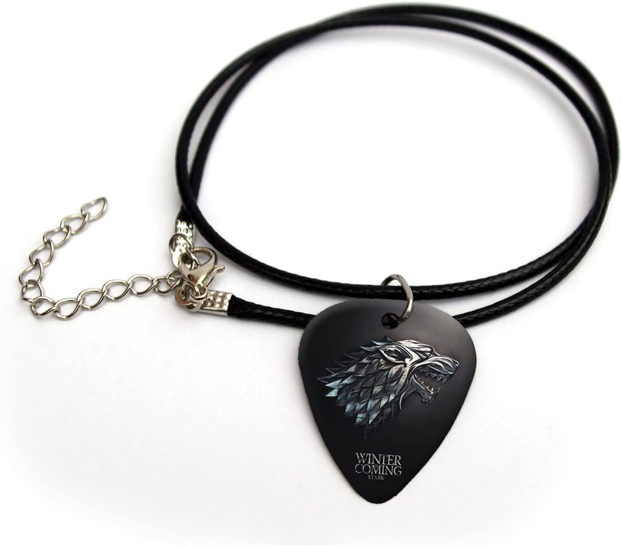 'Stark Game of Thrones Printed Guitarra Pick Necklace 18FC # 1