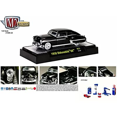 Castline M2 Diecast Car & Shop Tools Package - 1950 Oldsmobile 88, Black 31500/23 - 1/64 Scale Diecast Model Toy Car w/Shop Tools: Toys & Games