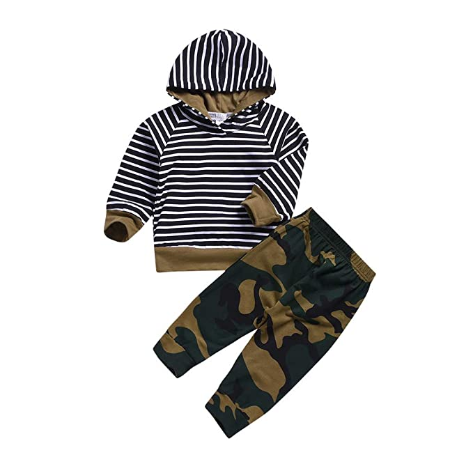 f00847a89bc53 Fyhuzp Fashion Baby Boy Girl Camouflage Short Sleeve T-Shirt Tops+Green  Long Pants Outfit Casual Outfit: Amazon.ca: Clothing & Accessories