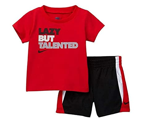 57ea7c281b63a Amazon.com: Nike 2-Pc. Lazy BUT Talented T-Shirt & Shorts Set ...