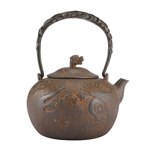Amazon.com: Tetera japonesa de hierro fundido, sin ...