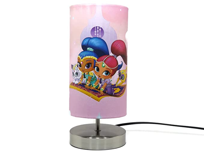 Shimmer and shine lamp lampshade night light bedside table desk shimmer and shine lamp lampshade night light bedside table desk lamps pink girls bedroom nursery accessories aloadofball Gallery