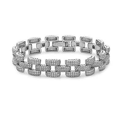 765d3508b983 Amazon.com  Crush + Fancy Pave Crystal Link Bracelet