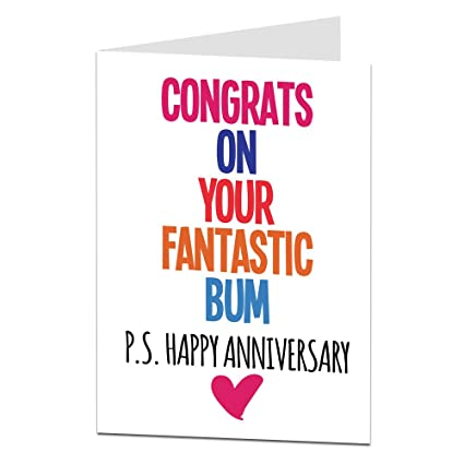 Amazon Funny Anniversary Card Wedding Or Relationship For
