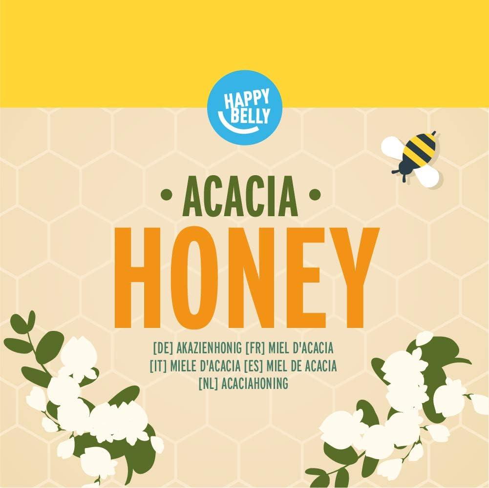 Marca Amazon - Happy Belly Miel de acacia 340gr x 4: Amazon.es ...