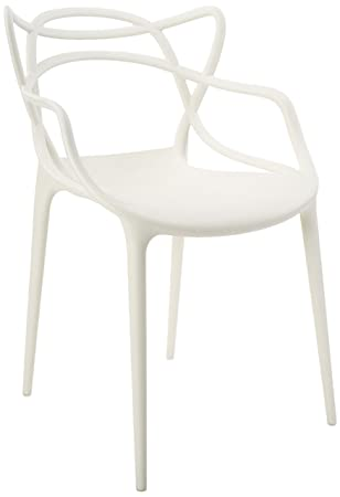 Kartell Masters Chair By Philippe Starck With Eugeni Quitllet, Matte White
