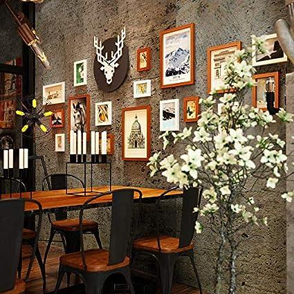 Ciervo cabeza foto reloj de pared marco de imagen digital pared industrial decoración de la pared ...