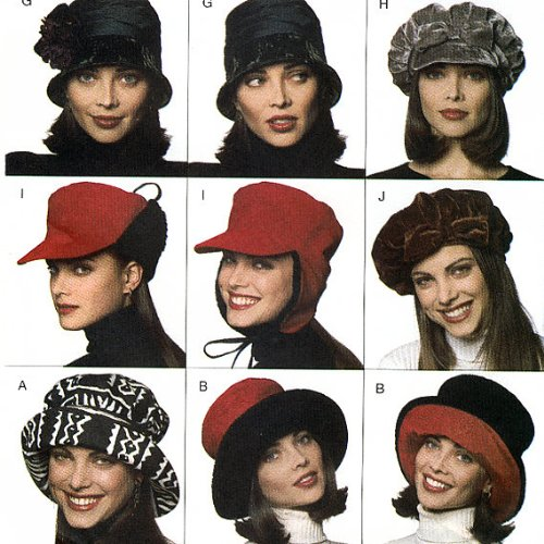 Hats and More Hats Ladies Womens Butterick Pattern # 3664 Used