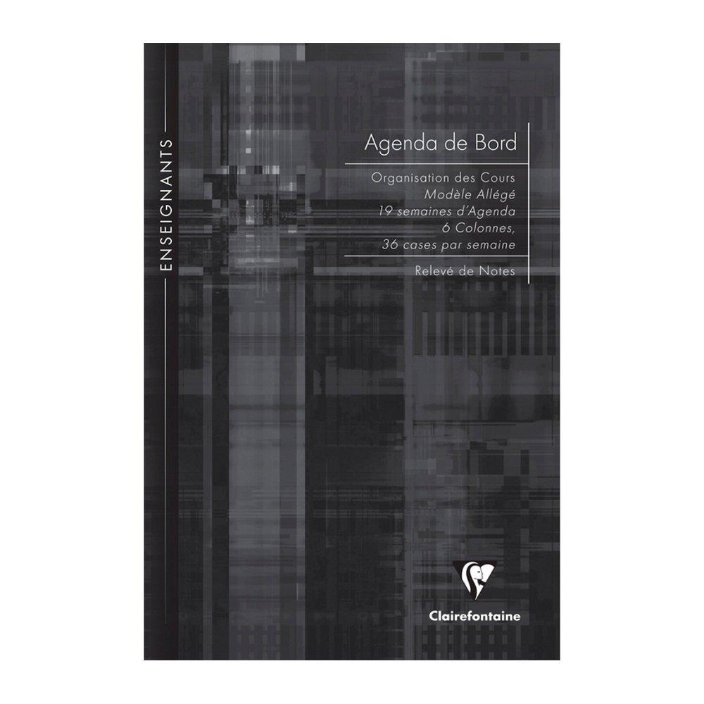 Clairefontaine Enseignants Agenda bord piqu/é A4-72 pages Noir