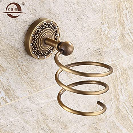 Antigüedades de latón sólido rack secador de pelo baño retro pared racks de almacenamiento baño de ducha tubo de aire: Amazon.es: Hogar