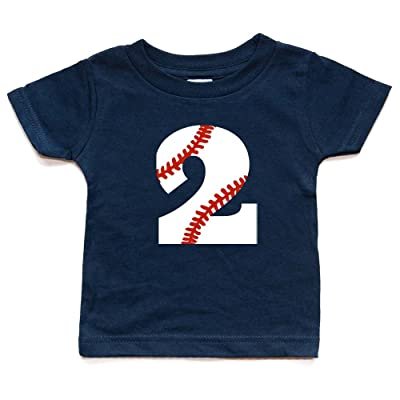 Second Birthday Baseball Shirt Toddler Boy Or Girl 2 Tshirt Kids Sports Party Two Trendy 2nd