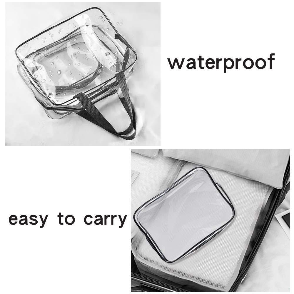 Aisprts Maquillaje bolsas y maletas Bolso de plástico bolsa de viaje de PVC transparente cepillos organizador para hombres y mujeres Viajes Negocios Baño 3 ...