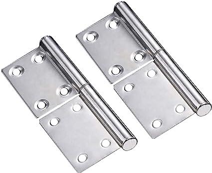 Bisagras para puerta de acero inoxidable Tiberham, rotación de 360 grados, bisagra para puerta de armario de ventana y puerta (2 unidades)