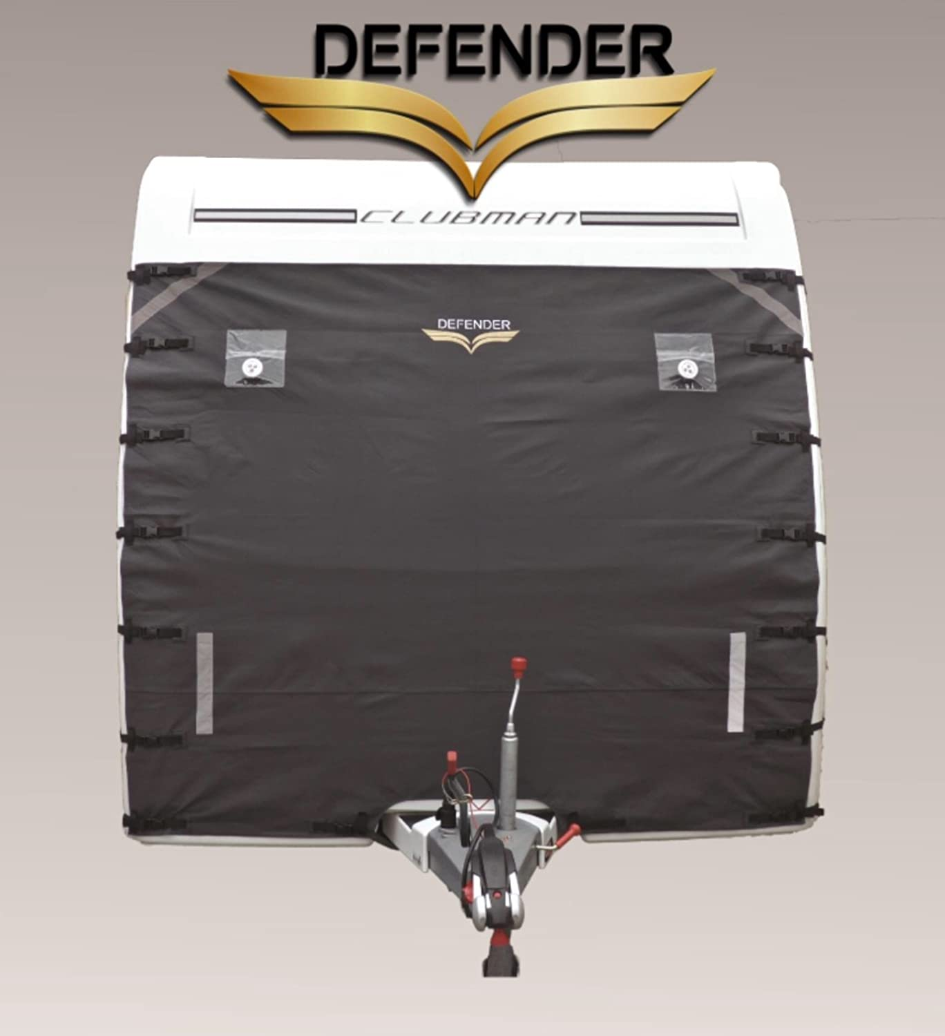 Defender Caravan Universal Front Towing Cover by Protector Covers Accessories | DARK GREY Jedset Products
