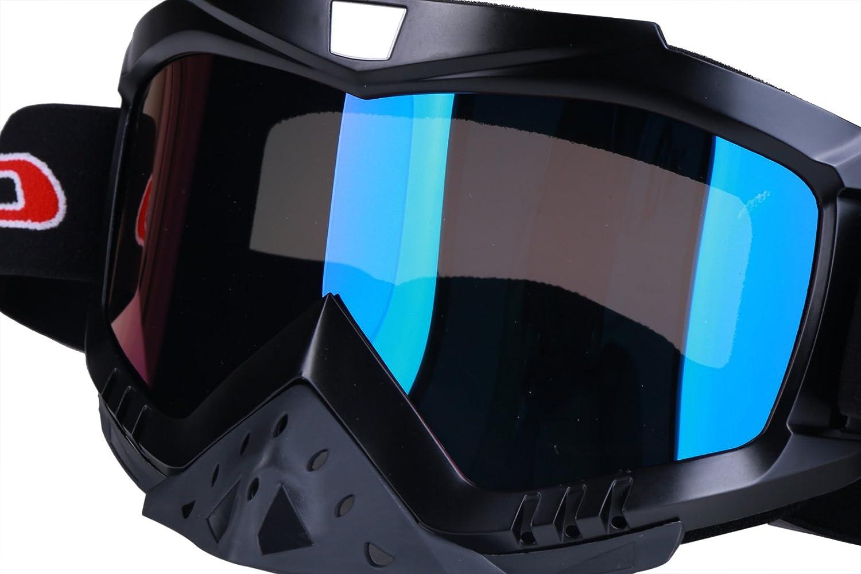 Blue Madbike Occhiali Motocross per motocicletta Sport allaria Aperta Dirt Bike ATV MX Occhiali sportivi fuori Strada