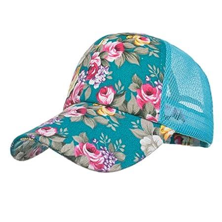 GRAZJ Señoras clásicas Gorra de béisbol Floral Tamaño Suave ...