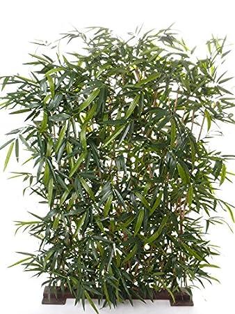 Amazon De Artplants Set 2 X Kunstliche Bambus Sichtschutz Hecke
