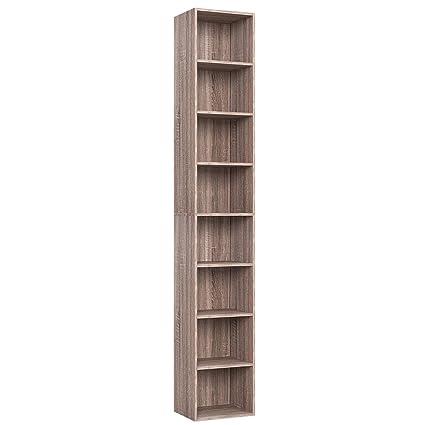 Homfa Cd Dvd Storage Tower Rack Media Storage Unit 180cm Bookshelf