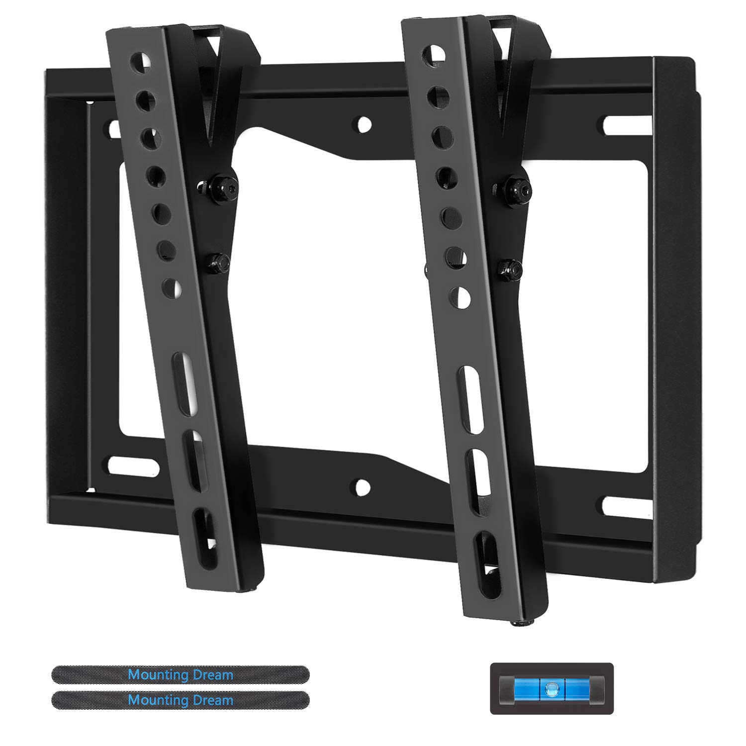 Mounting Dream MD2268-S TV Wall Mount Tilting Bracket for Most 17-42 Inch LED, LCD and Plasma TVs up to VESA 200 x 200mm and 44 LBS Loading Capacity, with Bubble Level