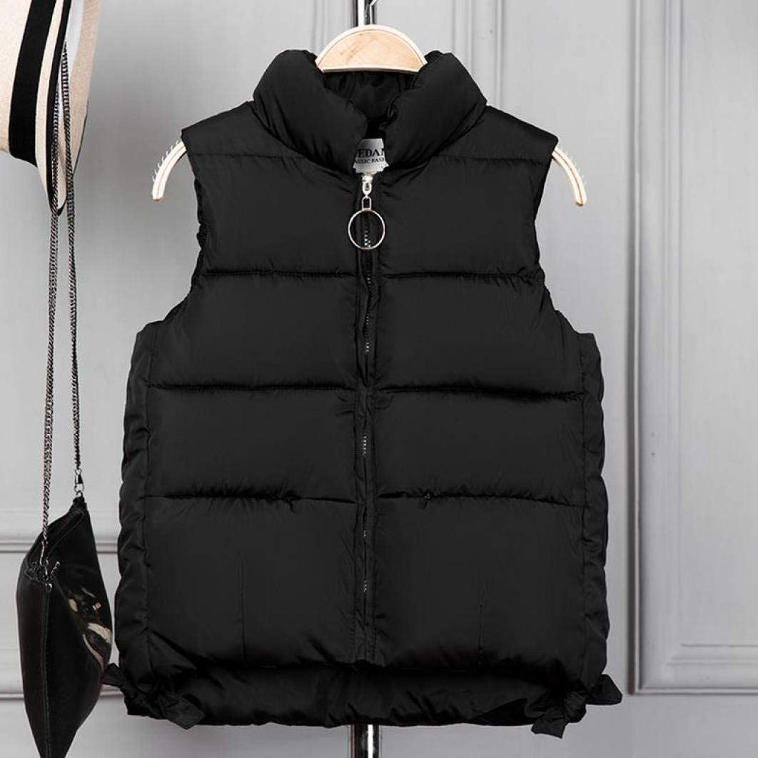 LVYING Womens Down Coat Vest Sleeveless Cotton Jackets Outerwear Overcoat Short with Zipper