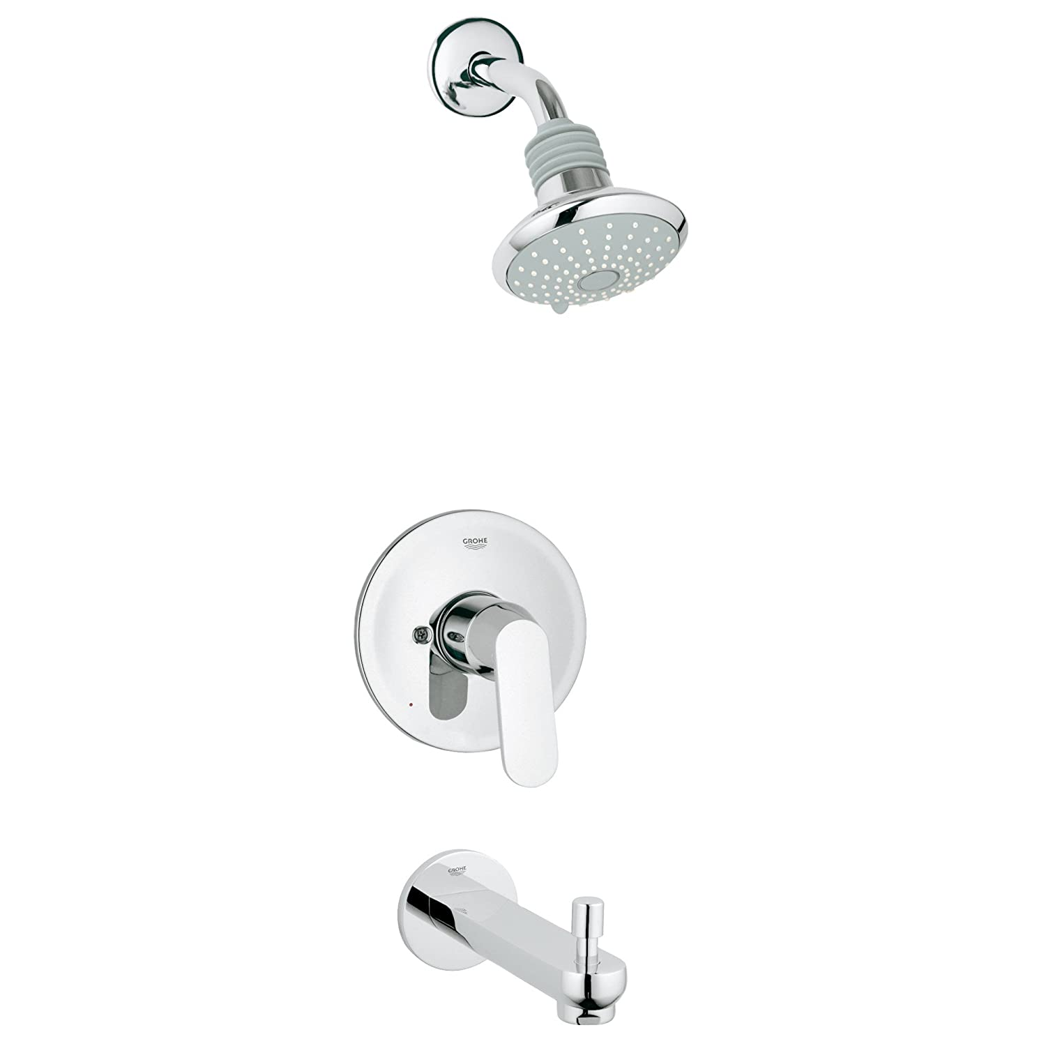 Eurostyle Cosmopolitan 2-Spray Showerhead and Tub Spout ...