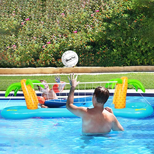 Finders | iBaseToy Inflatable Pool Volleyball Game Set with ...