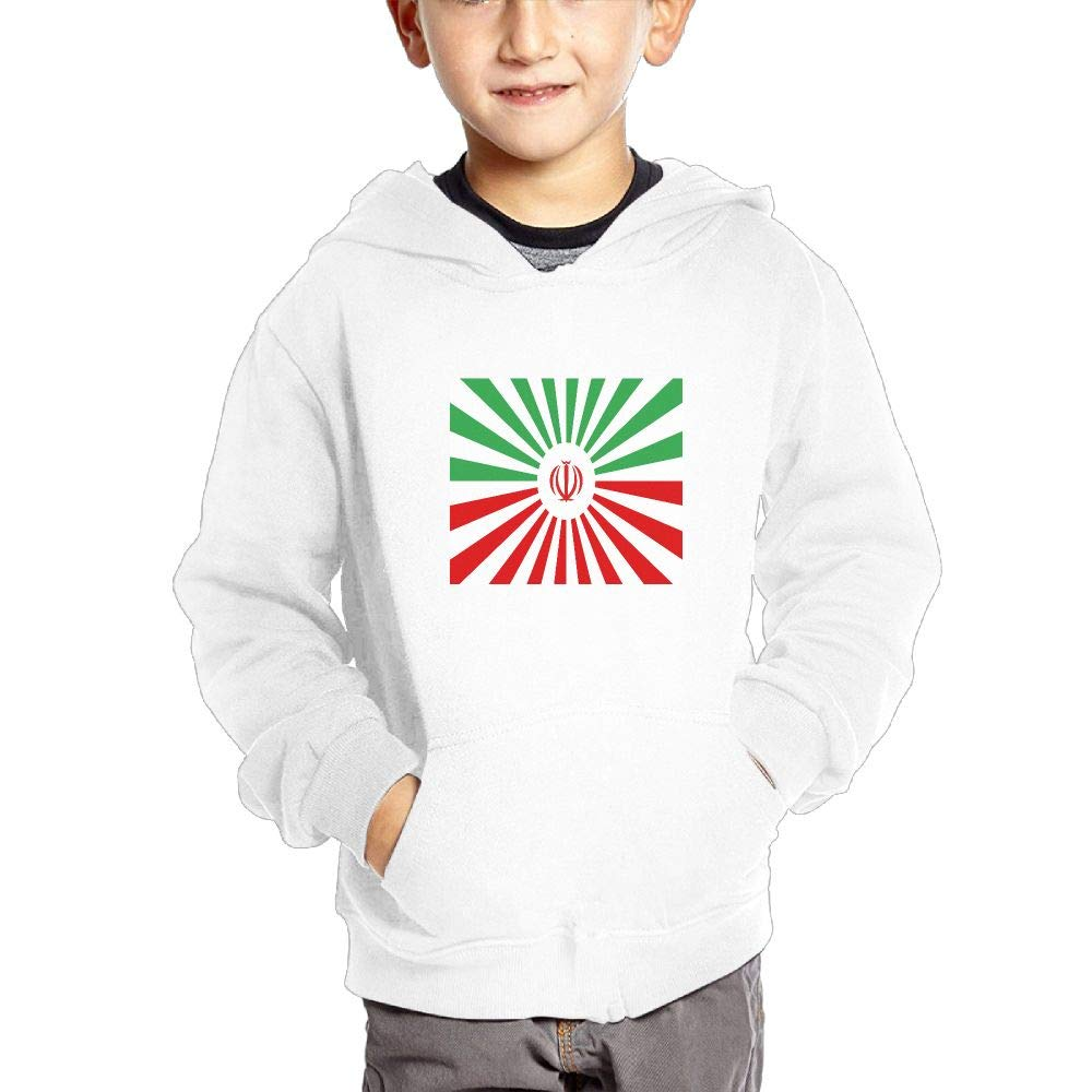 The Rising Sun Flag Breathable Hooded Pocket Sweater for Children Spring//Autumn//Winter Outfit Long-Sleeved Hoodie
